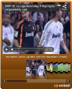 the laligaweekly.com La Liga highlights widget