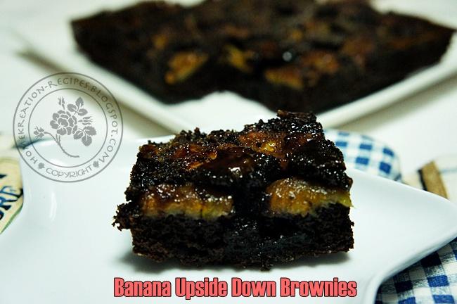 HomeKreation - Kitchen Corner: Banana Upside-Down Brownies