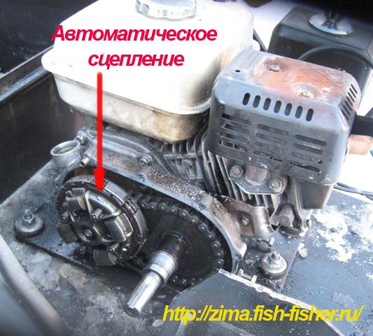 автоматическое сцепление мотобуксировщика