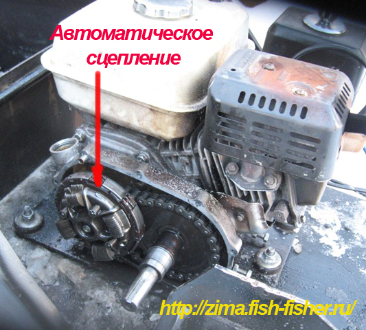 Автоматическое сцепление на мотособаку своими руками