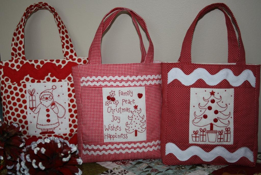 Fabric Holiday Bags - Craft Patterns, Home Decor and Home