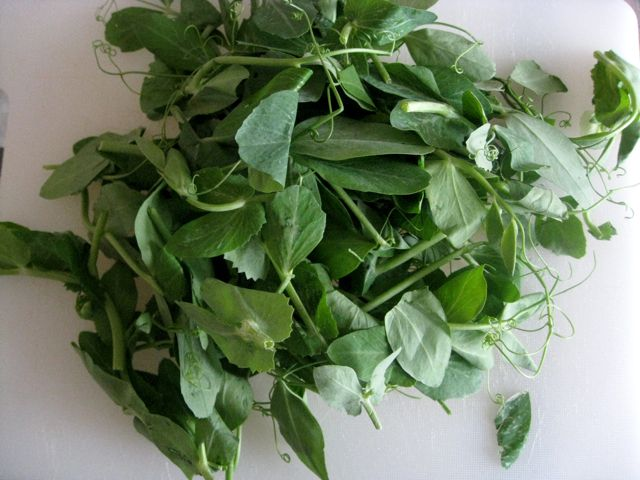 Pea Tendrils, English Peas, Pea Shoots, and Watercress ...