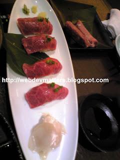 Wagyuunigiri - Beef Sushi
