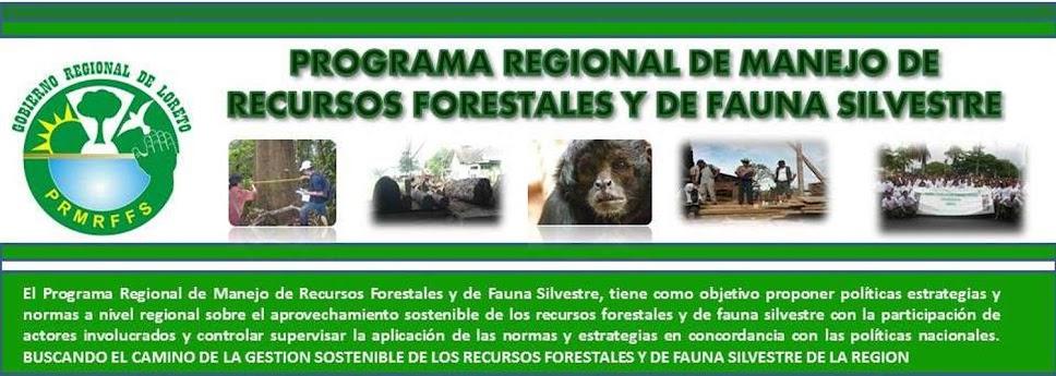 PROGRAMA REGIONAL DE MANEJO DE RECURSOS FORESTALES Y DE FAUNA SILVESTRE - LORETO
