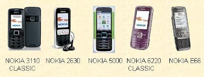 NOKIA 3110 2630 5000 6220 E66