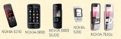NOKIA 5310 5800 6600 5300 7610s