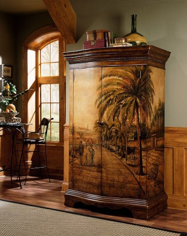 This Armoire Is Hand Painted And Stained. An Armoire Purchased From An  Unpainted Furniture Store Would Be Perfect For This.