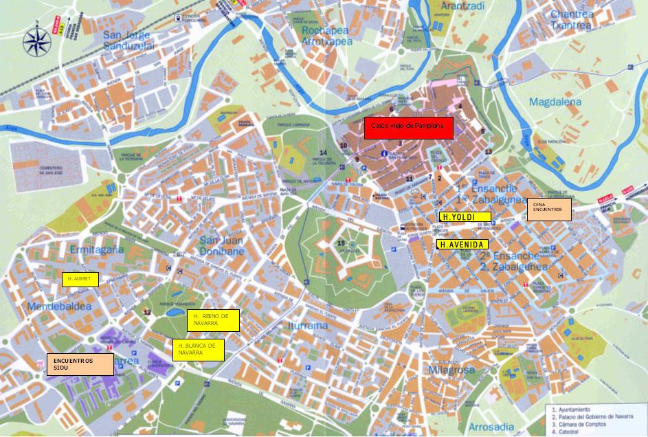 Geolicinio plano de pamplona comentado - Pamplona centro historico ...