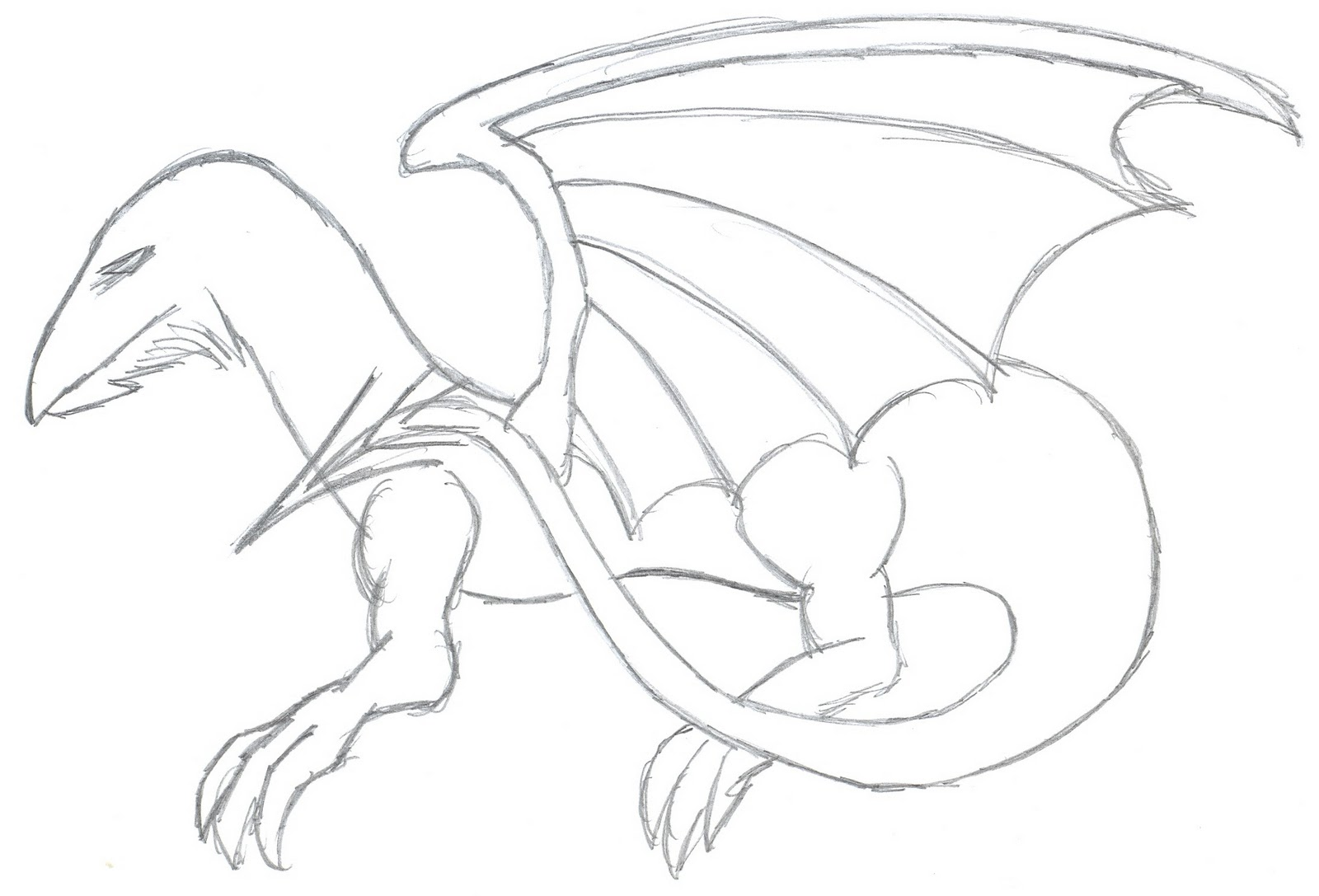 how to draw an easy cool dragon