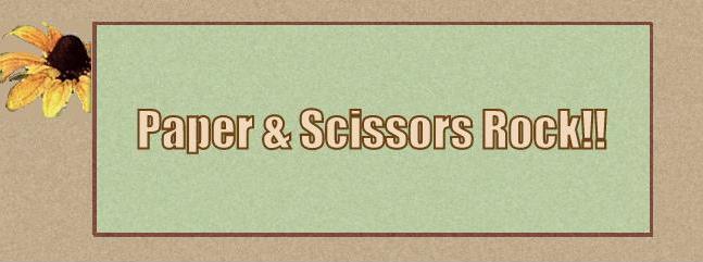 Paper & Scissors Rock!!