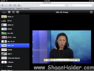 Watch Live TV on iPad, iPhone & iPod