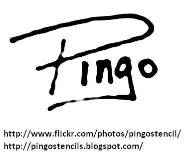 Pingo Stencil Graffiti