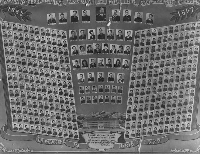 """Absolvent al Liceului Militar """"Stefan cel Mare"""" Cimpulung Moldovenesc , promotia 1967"""