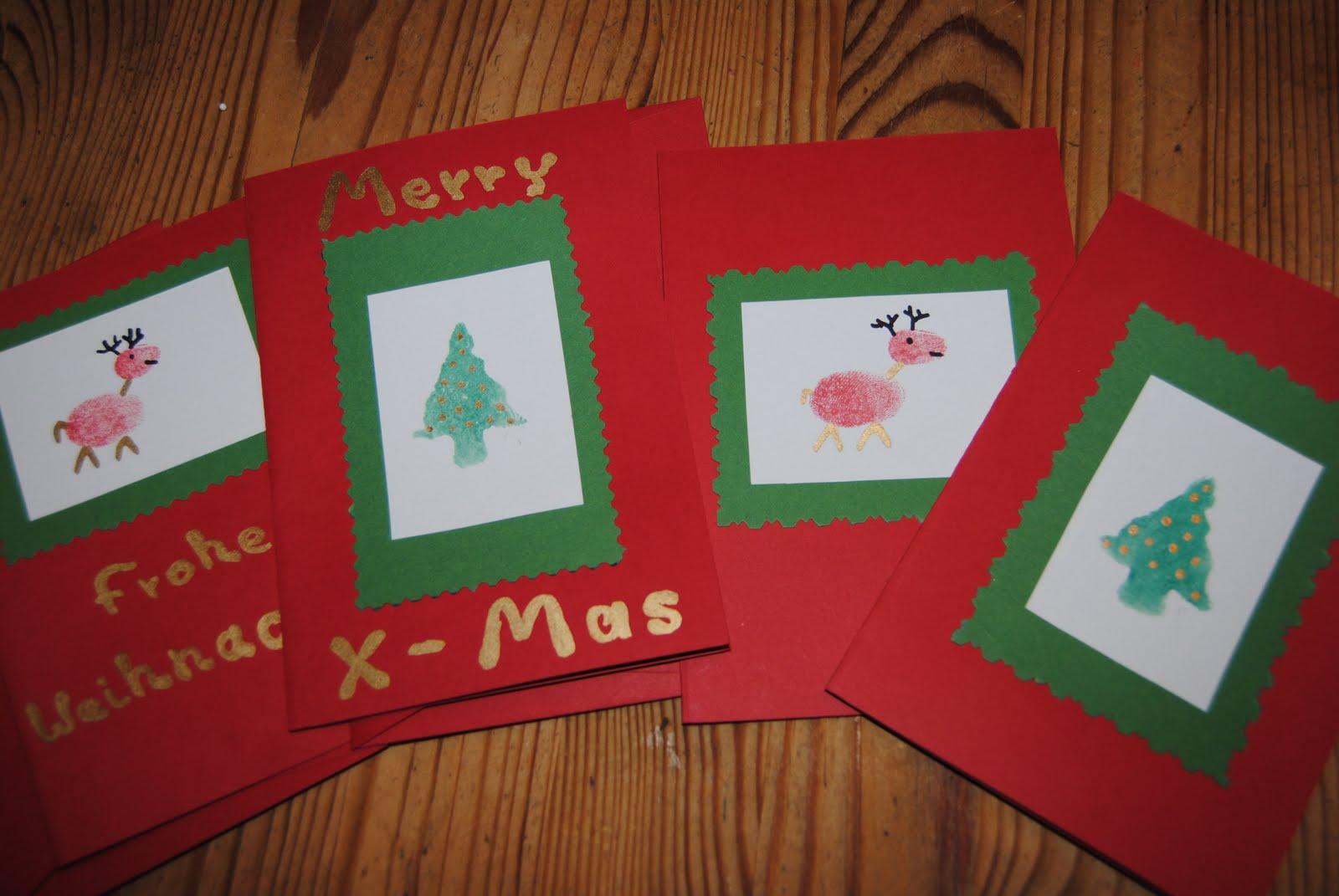 Karlas chaosecke eine s e bastelidee o for Weihnachtskarten mit kindern basteln