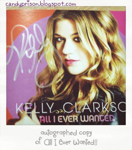 kelly clarkson, all I even wanted, autographed