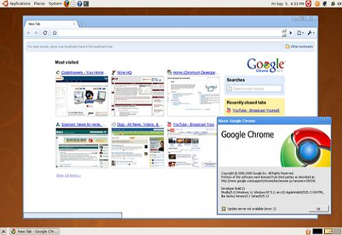 google chrome beta. Google Chrome-7 eta