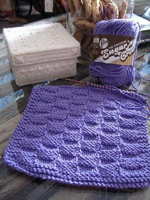 Knitting By The Ocean: Basketweave Dishcloth