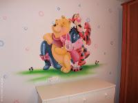 ציור קיר פו וחבריו בחדר תינוקות