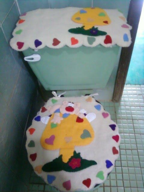 Juegos de baño de fieltro de flores - Imagui