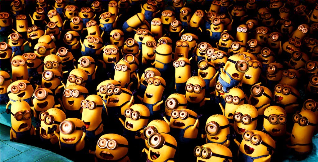 Minions Despicable Me. Love the small minions heh