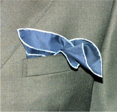 Suit and handkerchief