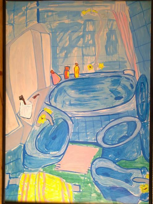 Bañera azul