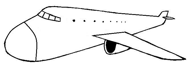 desenhos colorir gratis desenho de avião para colorir