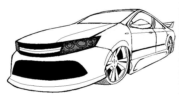 Dibujos de autos mustang para colorear - Imagui