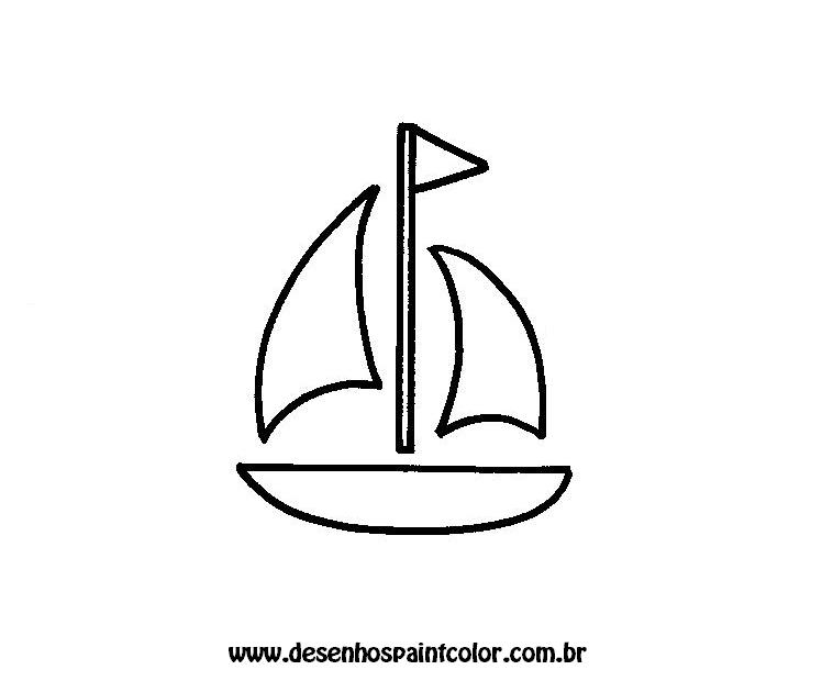 risco de barco para colorir   desenhos para imprimir