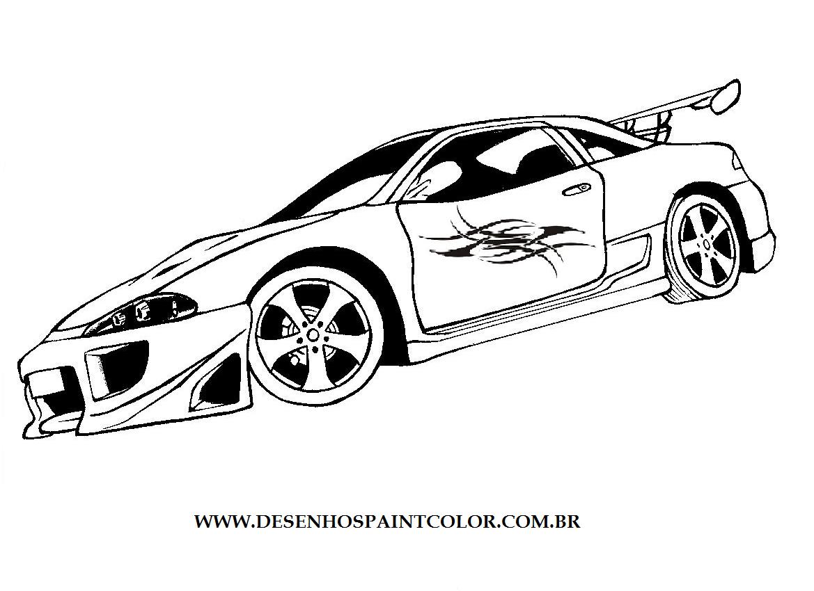 Desenho De Carro Tunado Com Adesivo Tribal Na Porta Desenho Infantil De Carro Tunado Para