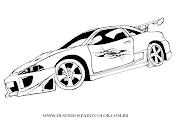 DESENHO DE CARRO TUNADO COM ADESIVO TRIBAL NA PORTA , DESENHO INFANTIL DE . (desenho de carro tuning mitsubishi eclipse para imprimir colorir)