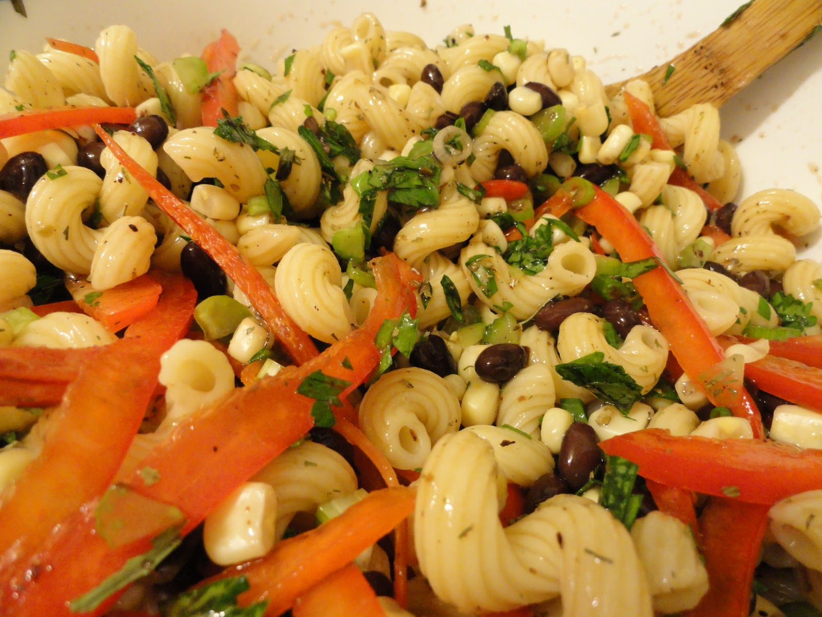 Life With The Five F 39 S Cold Pasta Salad With Black Beans