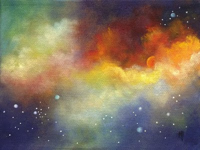 Marina petro adventures in daily painting solar fire for Outer space landscape