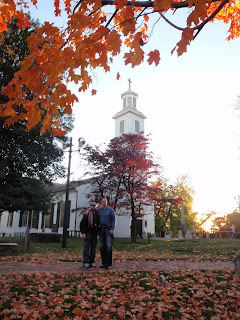 Adam and Travis in front of St. John's Church in Richmond, Virginia