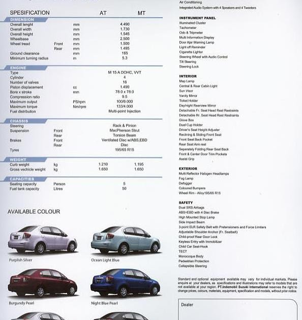 Suzuki CAB -: Brosur Neo Baleno (SX4 Sedan