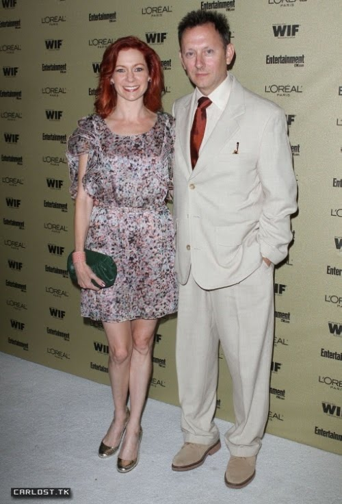 Carrie Preston with cool, sympathetic, calm, Husband Michael Emerson