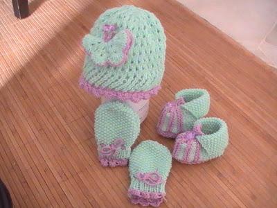 crochet baby set