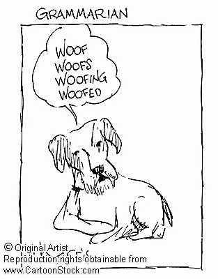 Linguistics Cartoon Favorites - Grammar Dog