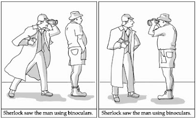 syntax with sherlock sentence ambiguity illustrated and diagrammed