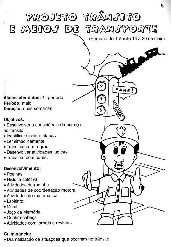 Conhecido CANTINHO DA PROF. IVANI GULARTE: PROJETO TRÂNSITO ED INFANTIL QE83