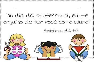 cartão para dia dos professores