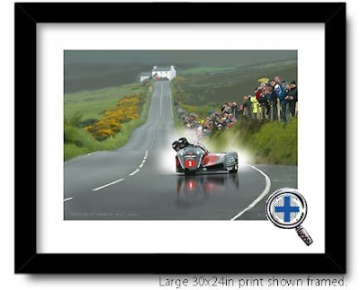 isle man auto car artwork and photo poster