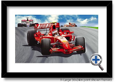 ferrari auto car artwork and photo poster