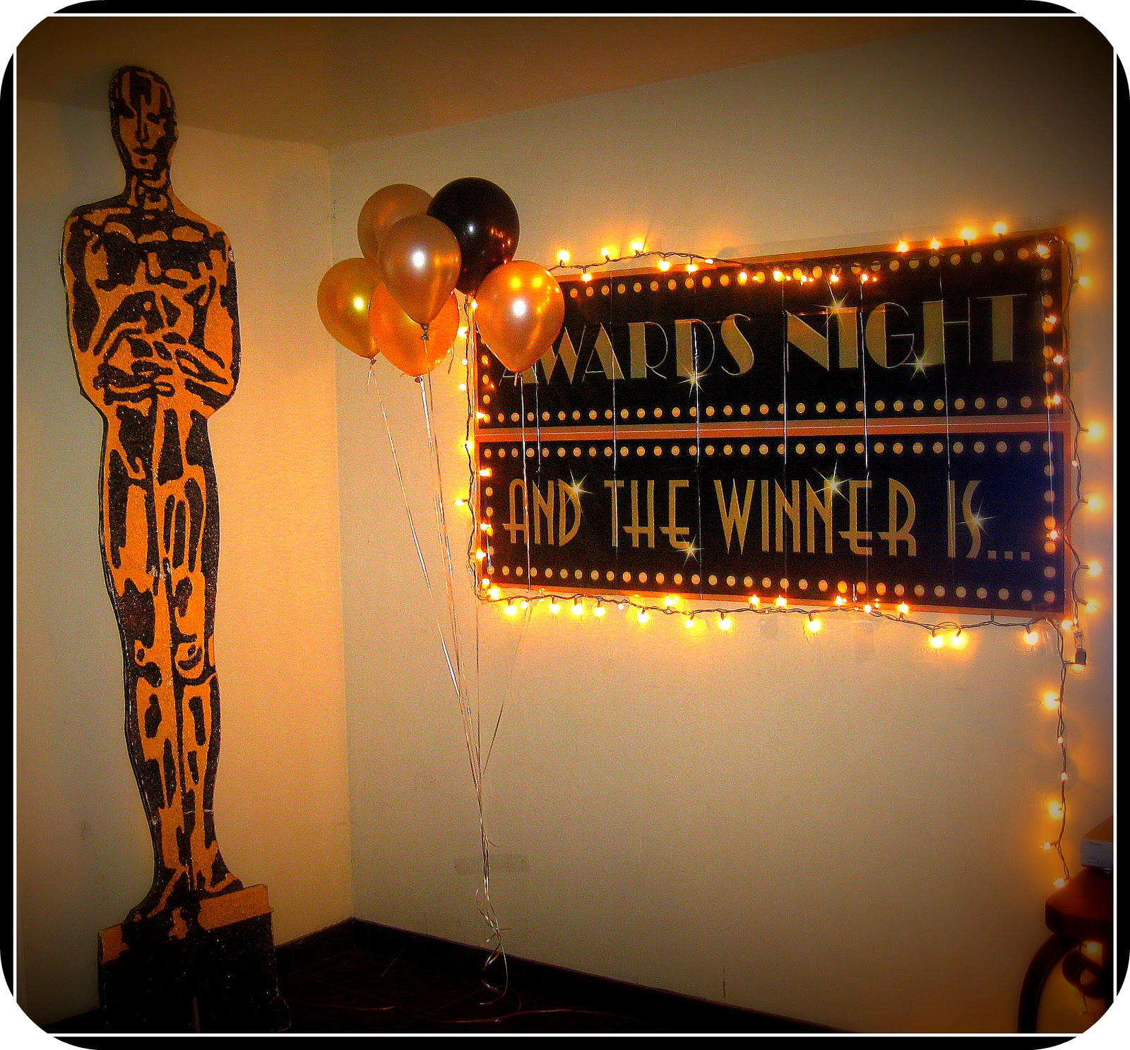 Everything sweet hooray for hollywood an oscar themed for Awards decoration