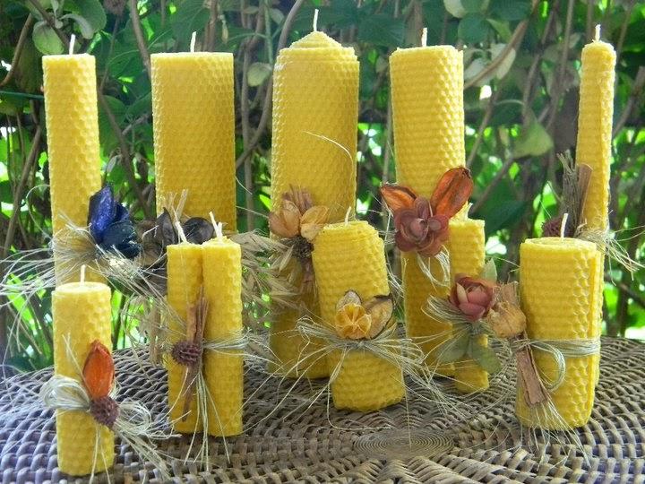 Artesanias dominique fotos velas de miel - Velas de miel ...