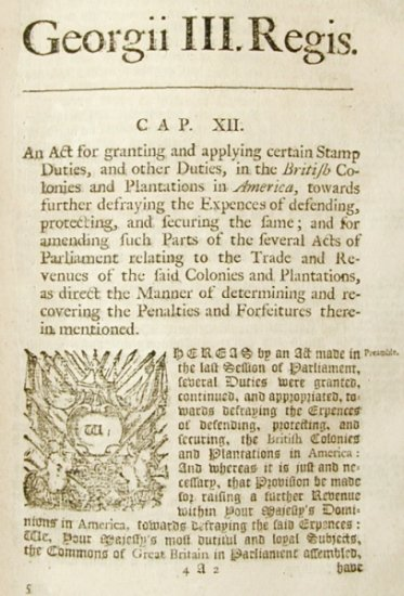A report on the reaction to the Stamp Act, 1765