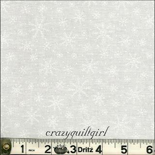 Moda MUSLIN MATES Snowflakes White Fabric