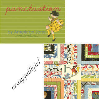 Crazy Quilt Girl Fabric Shop Moda Punctuation Fabric By