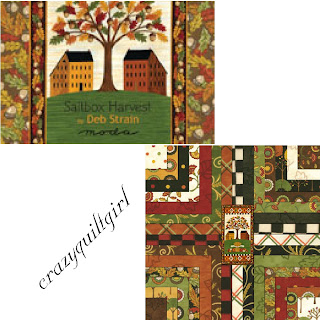 Moda SALTBOX HARVEST Fabric by Deb Strain