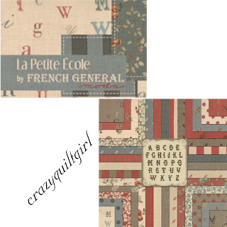 Moda LA PETITE ECOLE Quilt Fabric by French General
